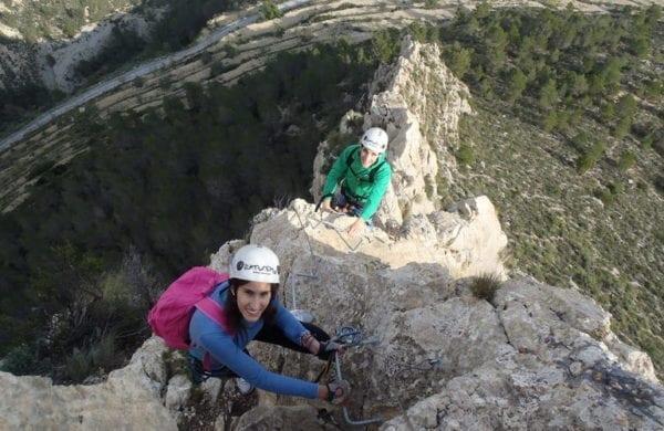Vía ferrata Penya del Figueret, Alicante, España