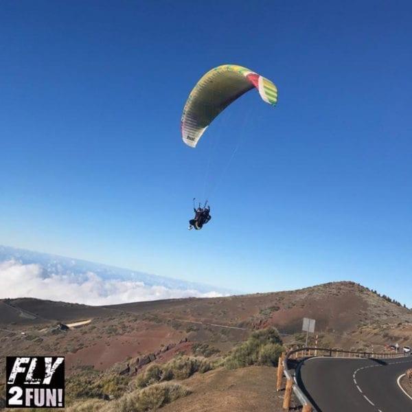 Vuelo biplaza en parapente, Izaña, Tenerife, España