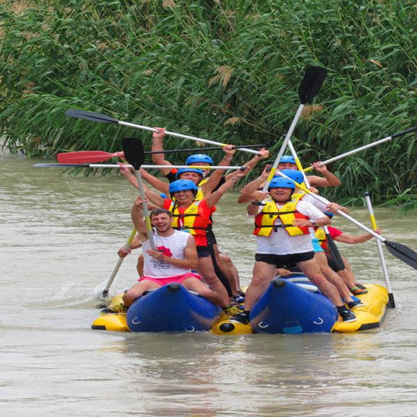 Rafting descenso del río Segura, Murcia, España