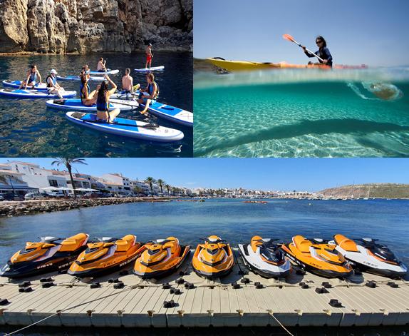 Excursión kayak + snorkel en la reserva marina en Menorca