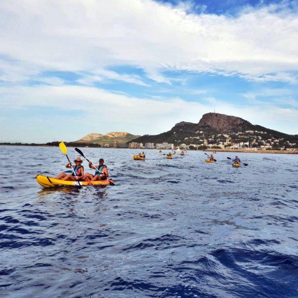 Eco kayac a las Islas Medes
