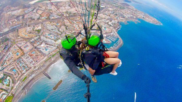 Vuelo básico en parapente en Ifonche 1.100m, Tenerife, España