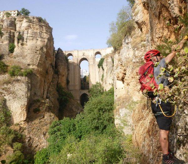 Vía ferrata Tajo de Ronda en Málaga, España