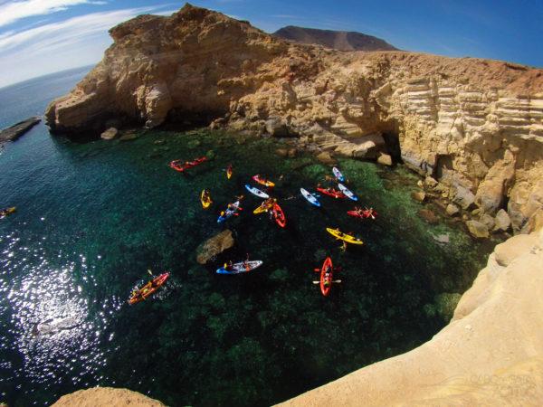 Ruta guiada kayak calas del Parque Natural Cabo de Gata, Almería, España