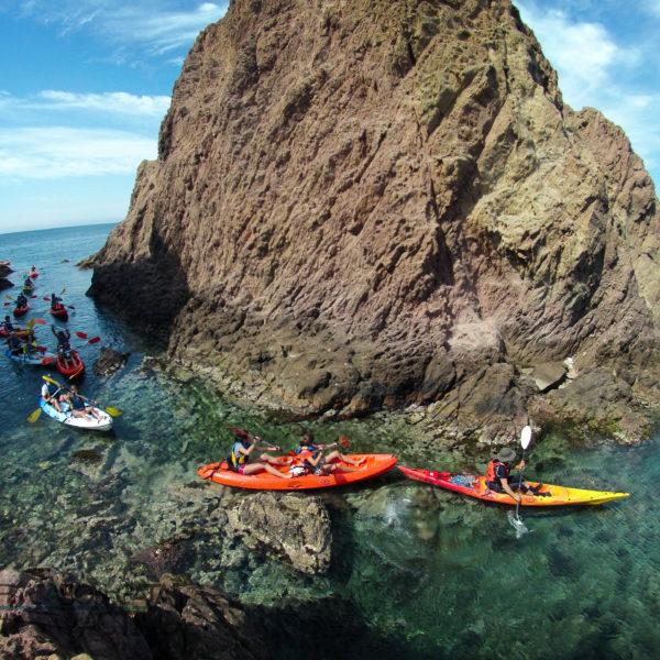 Ruta guiada en kayak Cabo de Gata, Almería, España