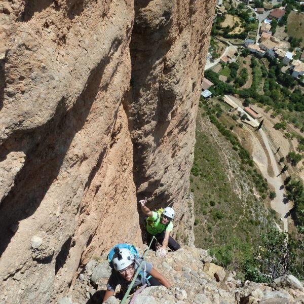 Escalada en los Mallos de Riglos, Huesca, España