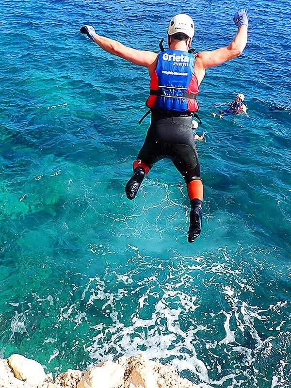 Coasteering Playa del Torres Villajoyosa, Alicante, España