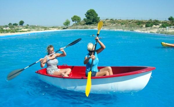 Kayak en el Lago Azul, Orihuela, Alicante, España