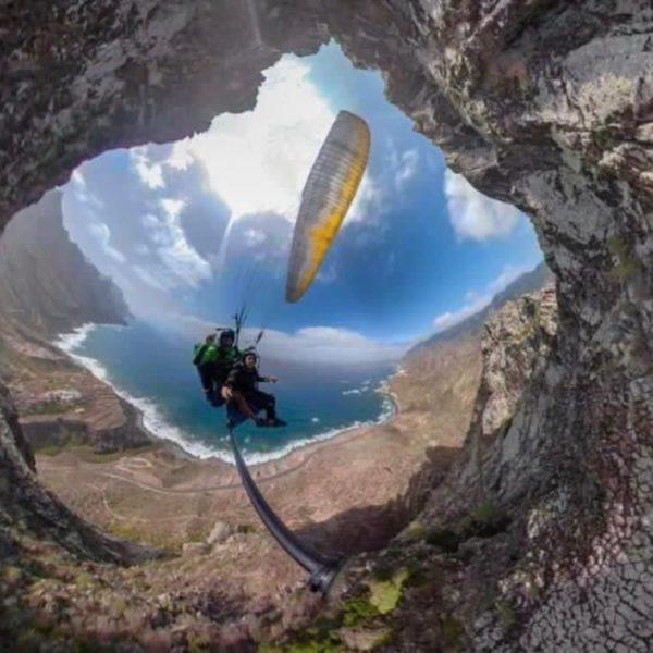 Vuelo en parapente biplaza en Tenerife, España
