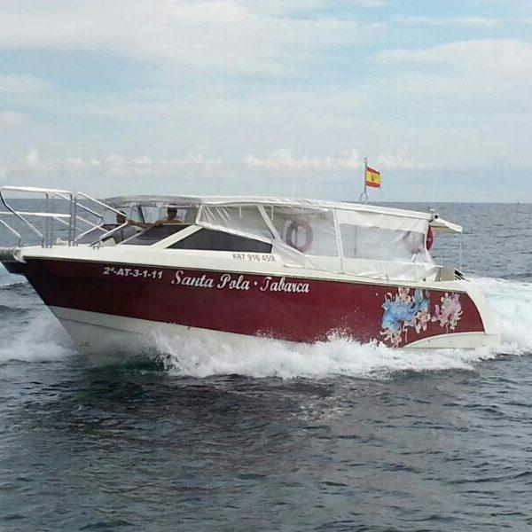 Viajes en barco a Tabarca desde Santa Pola, Alicante, España