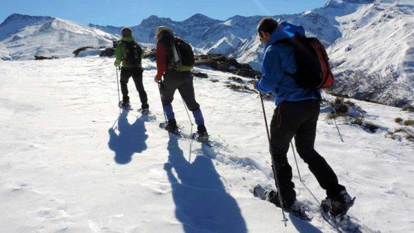 Raquetas de nieve en Barranco de San Juan, Sierra Nevada, España