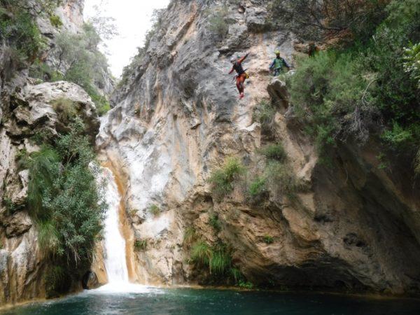 Barranquismo fácil Río Verde, Granada, España