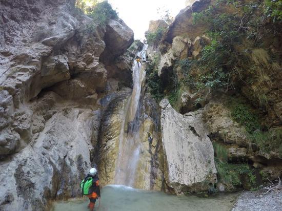Barranquismo Río Lentegí, Granada, España