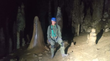 Espeleología Cueva de Coventosa, Cantabria, España