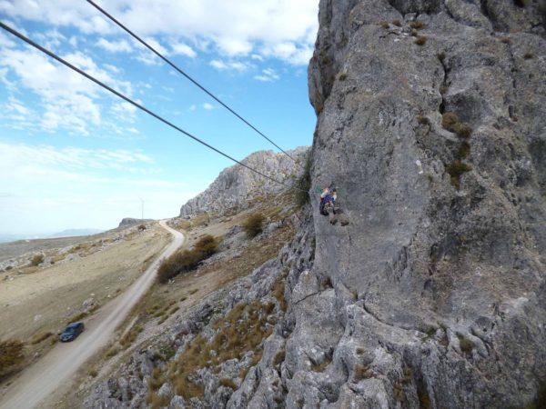 Vía ferrata Cueva Horá en Granada, España