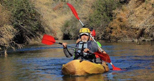 Kayak en Pajares Naturales en el embalse del Quípar, Murcia, España