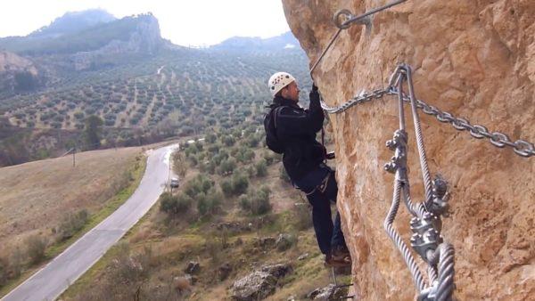 Vía ferrata Moclín en Granada, España