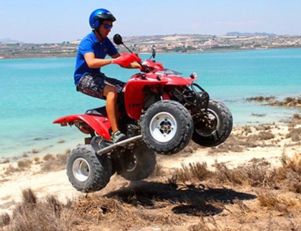 Conducción Quad en circuito, Embalse de la Pedrera en Orihuela, Alicante, España