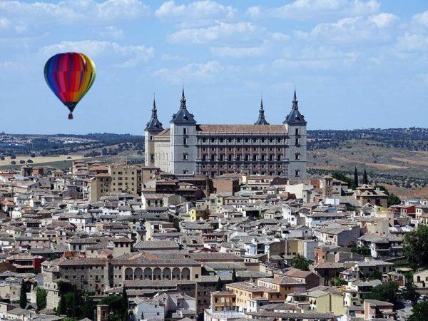Vuelo en globo sobre Toledo, España