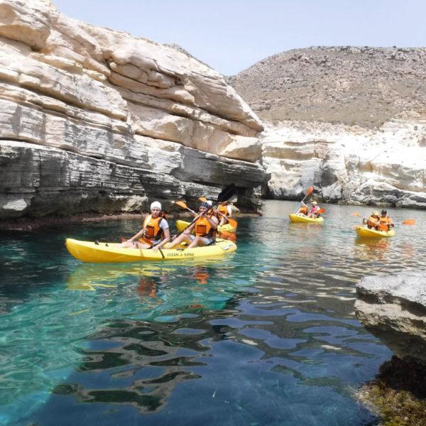 Ruta en kayak Parque Natural Cabo de Gata, Níjar, Almería, España