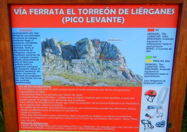 Vía Ferrata El Torreón de Liérganes, Cantabria, España