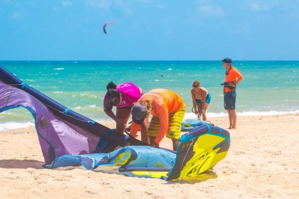 Kitesurf en Cumbuco, Cauipe, Brasil