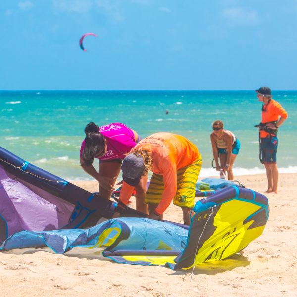 Kitesurf en Cumbuco, Paracuru, Brasil