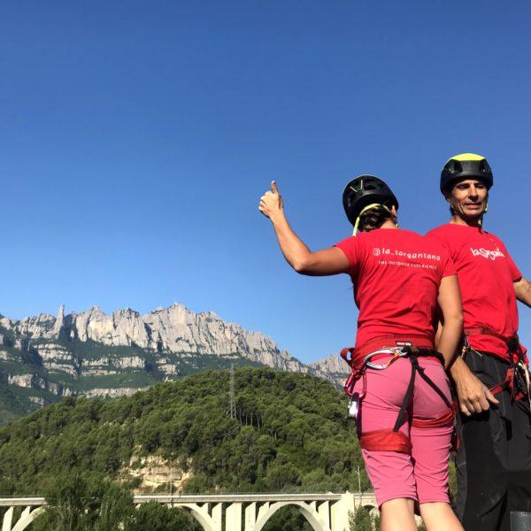 1 salto puenting en la Montaña de Montserrat, Barcelona, España