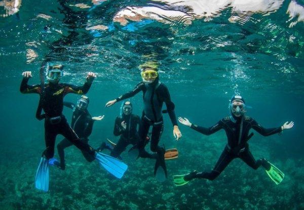 Salida de buceo con tubo, snorkel en San José Níjar, Almería, España