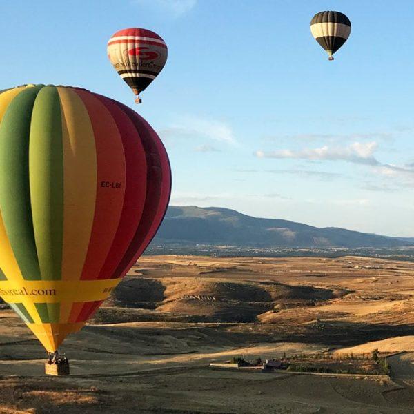 Vuelo en globo en Segovia, España