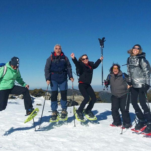 Raquetas de nieve grupos privados en Madrid, España