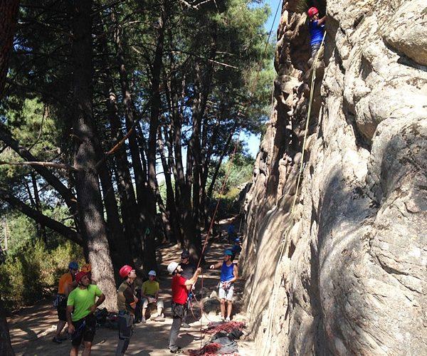 Salida de escalada en Madrid, España