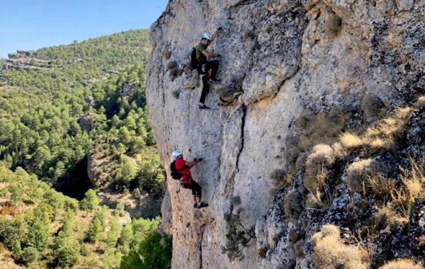 Via ferrata Ventano del Diablo, cerca de Madrid, Cuenca, España