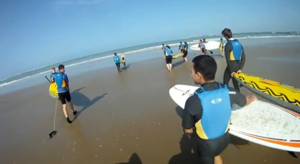 Paddle surf, Valdelagrana, Cádiz, España