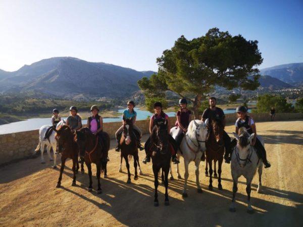Clase individual a caballo, Alicante, España