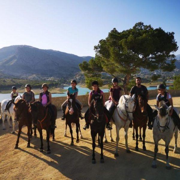 Ruta a caballo, Alicante, España