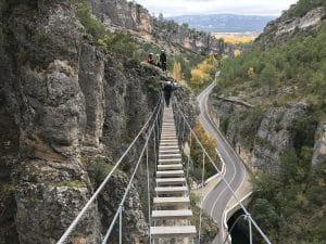 Vía ferrata de Priego en Cuenca, España