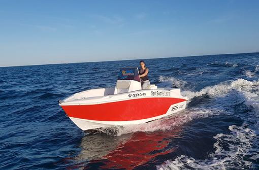 Barco de alquiler sin licencia 2 horas, Santa Pola, Alicante