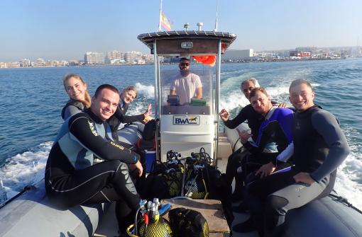 Bautismo de buceo desde barco, Alicante