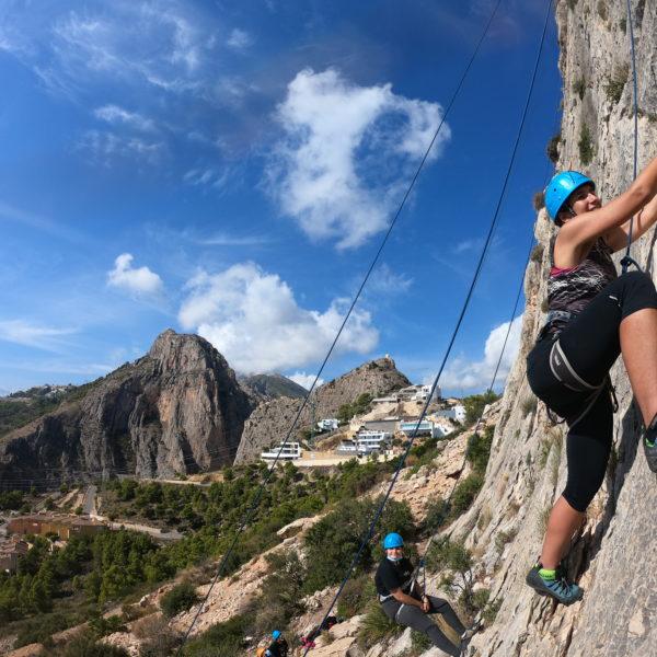 Bautismo de escalada en Caple, Alicante, España
