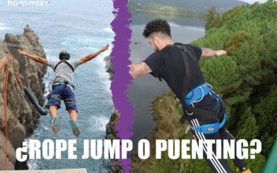 DIFERENCIAS ENTRE EL PUENTING EL ROPE JUMP